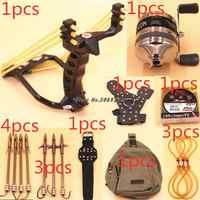 Potente multifunción tiro con arco pesca tiro con arco pez tirachinas catapulta caza arco pesca Honda tiro flecha Kit