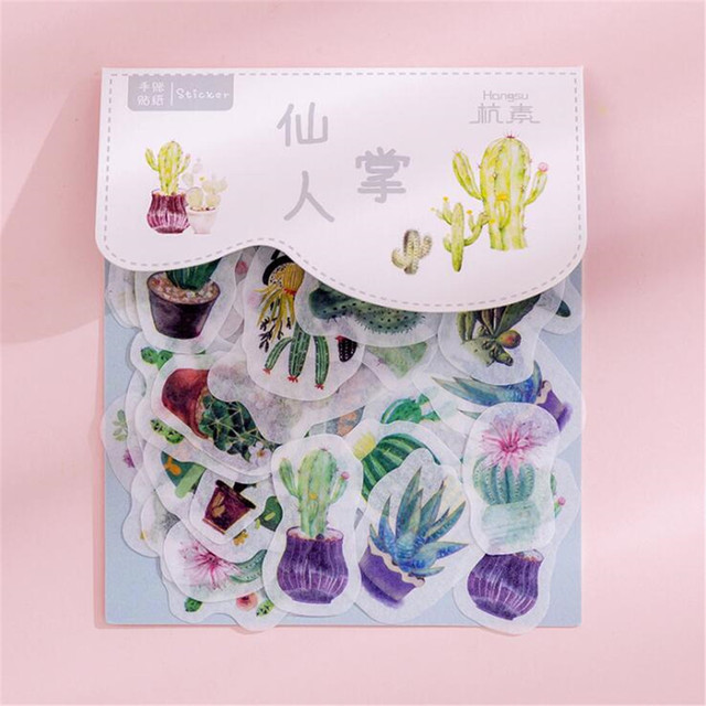 45pcs Box Stationery Wall Stickers Vaporwave Diy Planet Sticky Paper Moon Plants Stickers For Decoration Diary Scrapbooking Decorative Films Aliexpress
