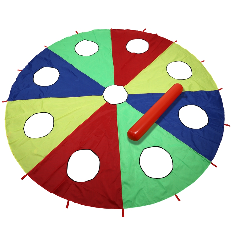 Kindergarten Rainbow Umbrella Toy Parent-Child Activities Game Props Children Kids Outdoor Fun Sports Toy