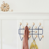 Furniture Coat Rack Door Ball Rack Milti purpose Hooks For Wall Ornaments Multicolor Hange It All For Kid Gift Metal Bag Decor.