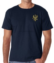 2019 Fashion Korte Creative Gedrukt T-shirt 14Th 20Th Kings Hussars Geborduurd Logo-Britse Leger Casual T-shirt(China)