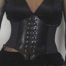 Женский черный ремень для широкой талии, на шнуровке, на завязках, с пуговицами, эластичный, подходит ко всему, платья, блузка, футболка, женская мода, новое поступление