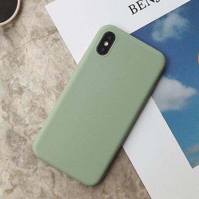 Силиконовый чехол для iPhone 11 Pro Max, чехол из мягкого ТПУ, матовый цветной чехол для телефона s, чехол для iPhone 6 7 8 Plus 6S XS Max XR X Etui - Цвет: SD-8
