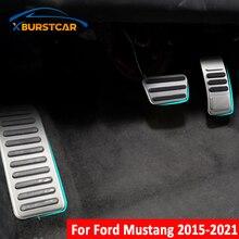 Xburstcar אוטומטי גז בלם הדום דוושת כיסוי עבור פורד מוסטנג 2015 2016 2017 2018 2019 2020 2021 רכב דוושות Pad אבזרים
