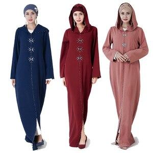 Eid Kaftan Abaya Dubai Turkey Muslim Hijab Dress Women Abayas Caftan Ramadan Turkish Islam Clothing Robe Djellaba Femme Musulman(China)