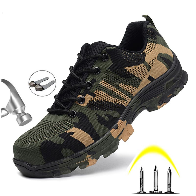 Safety Shoes Steel Toe Work/Safety Boots Plus Size Men Security Puncture Proof Boots Militar Zapatos De Seguridad Bombeiro