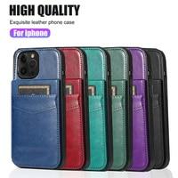 Leder Brieftasche Fall Luxus Handtasche Für iPhone 11 12 Pro XS Max mini XR X 6 6s 7 8 plus Wallet Card Slot Stoßfest Flip Zurück Abdeckung