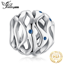 JewelryPalace Waves 925 Sterling Silver Beads Charms Original Fit Bracelet original Jewelry Making