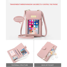 Mofi Universal Bag Phone Case For iPhone Xiaomi Women Girl Leather Wallet Smartphone Touch Screen Strap Crossbody Cell Phone Bag(China)