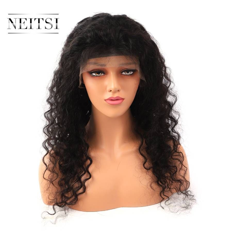 Neitsi Pre Plucked Lace Front Remy Human Hair Wigs 14