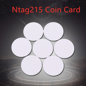 2pcs NFC Ntag215 Coin TAG Key 13.56MHz NTAG 215 Universal Label RFID Token Patrol Ultralight Tags Labels Phone