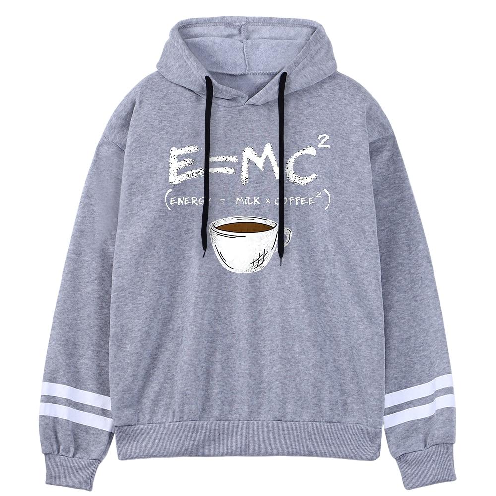 Hoodies E=Mc Coffee Personality Print Hoody For Women Harajuku Aesthetic Hoodie Warm Womens Fleece Oversized Sweatshirt Female 3