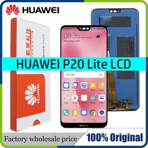 Image 1 - 100% oryginalny 5.84 2280*1080 LCD z ramą dla HUAWEI P20 Lite wyświetlacz LCD ekranu dla HUAWEI P20 lite ANE LX1 ANE LX3 Nova 3e