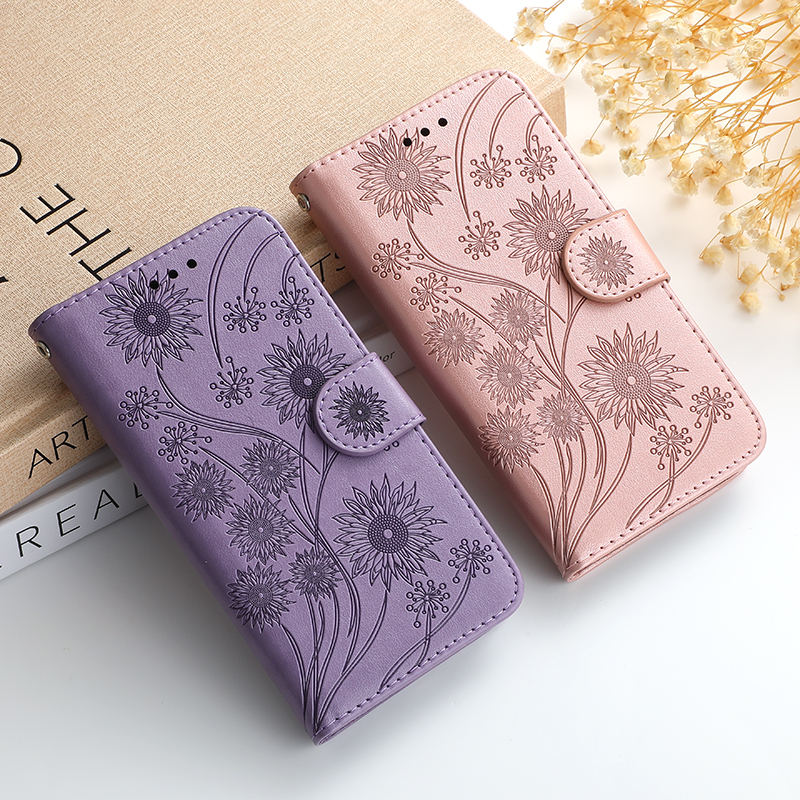 Wallet Flip 3D flower Leather Case For iPhone 11 Pro X XS XR Max SE 6 6S 7 8 Plus 12 Pro Book Cases Soft TPU Phone Cover Fundas