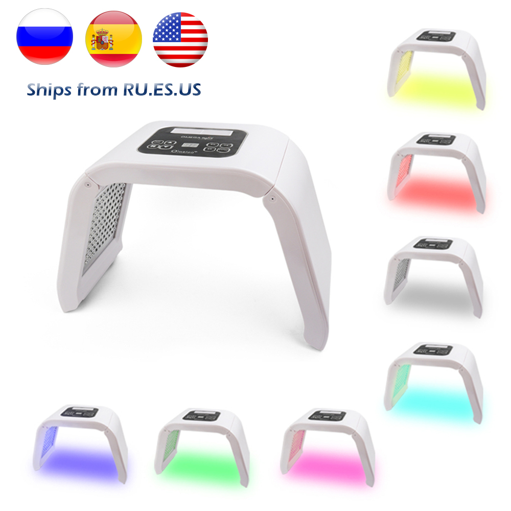 Professional 7 Colors PDT Led Mask Facial Light Therapy Skin Rejuvenation Device Spa Acne Remover Anti Wrinkle BeautyTreatment-in LED Mask from Beauty & Health
