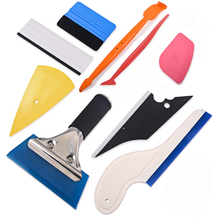FOSHIO Window Tint Tool Set Auto Car Accessories Vinyl Wrap Carbon Foil Film Tinting Magnetic Squeegee Car Sticker Wrapping Tool