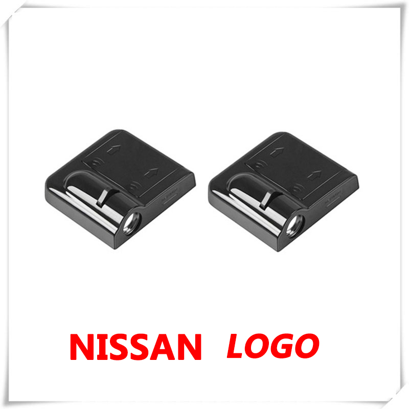 2X Car Logo LED Door Ghost Shadow Light Laser Projector For Nissan Almera N15 N16 N17 Leaf Livina Micra K12 K13 K14 NP300 Pulsar