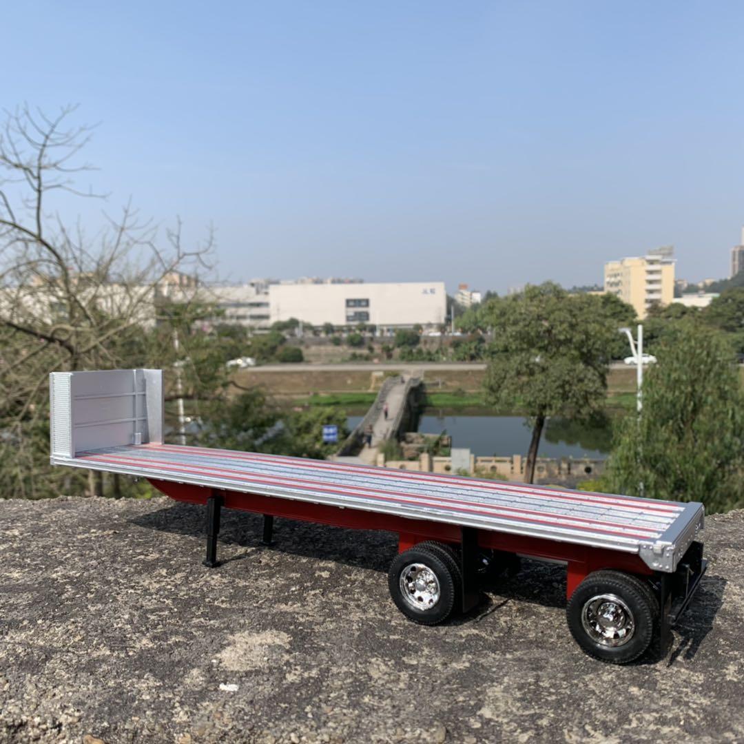 NEWRAY 1/32 Scale Truck Model Toys Flatbed Trailer 39cm Length Plastic Car Model Toy For Gift,Kids