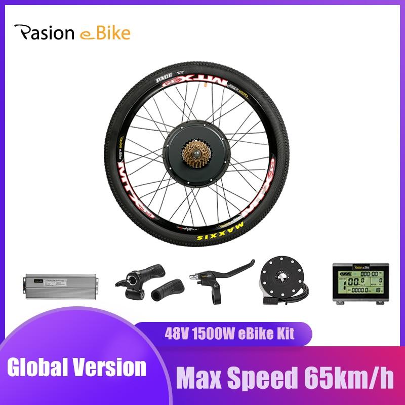 """Kit de Conversion EBike 1500W moteur de moyeu de vélo électrique 20 26 27.5 700C 28 29 """"roue de vélo arrière PASIONEBIKE   AliExpress"""