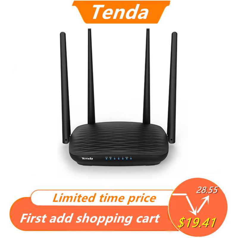 Tenda Wifi Repeater Antennas Router English-Interface Dual-Band 5ghz AC1200 5dbi APP