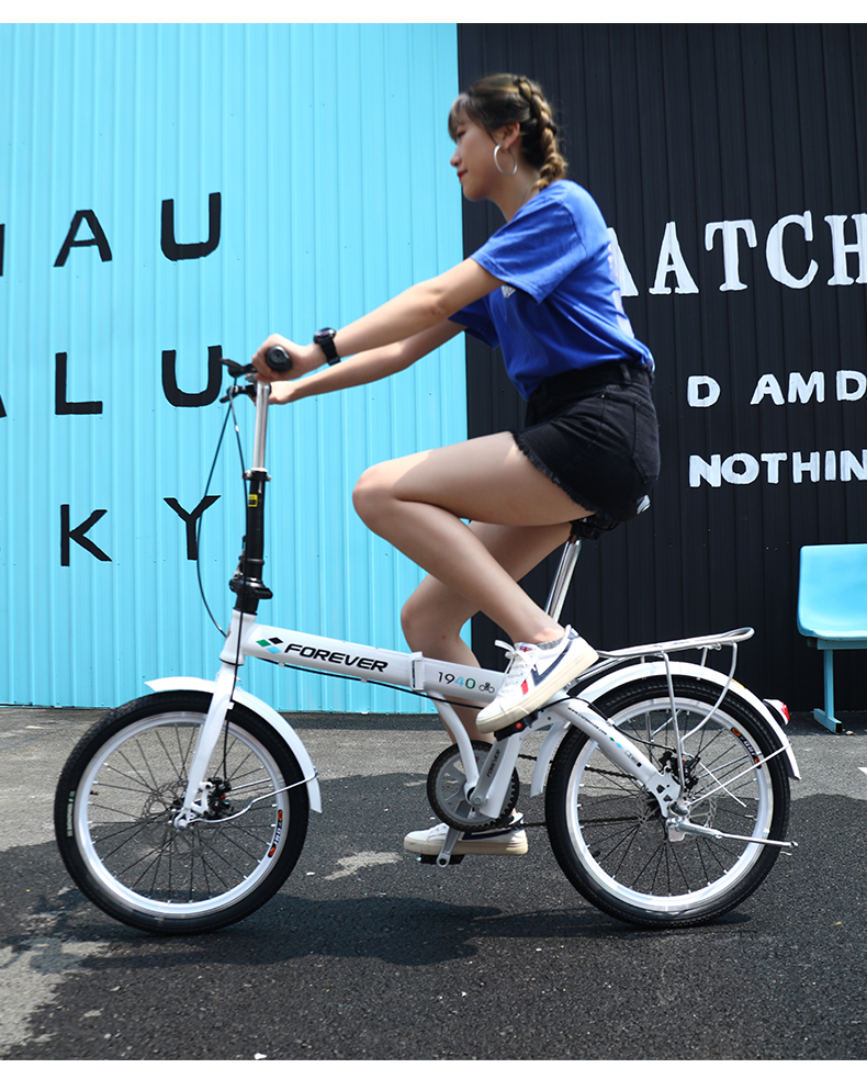 H5714d4fb81d645ec8f1016d31982b67fN 20 inch Mountain bike off-road male female wheel folding bicycle dual disc brakes variable mountain bike bicycles road bike