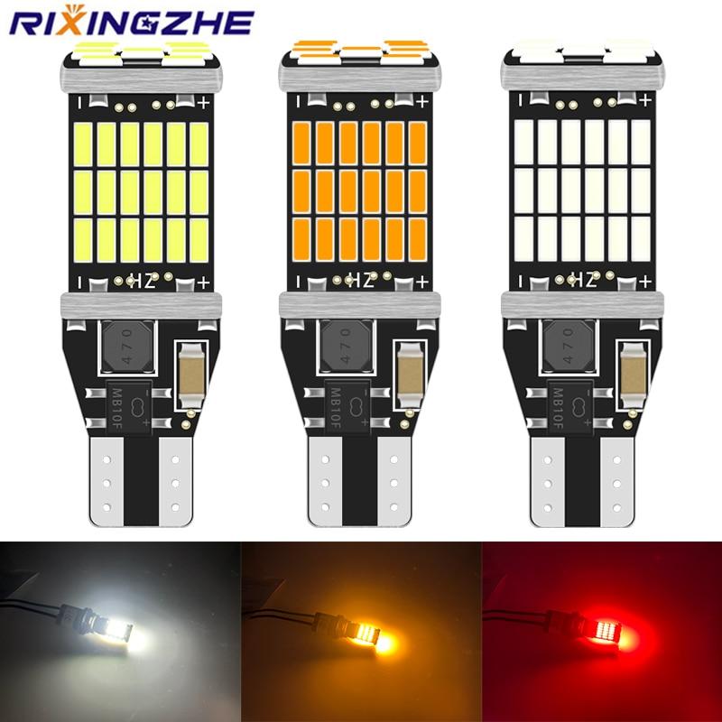 10 шт., светодиодсветодиодный лампы RXZ Canbus W16W T15 920 921 912 LED 4014 45