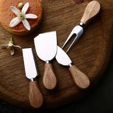 4 шт/компл Набор ножей с деревянной ручкой бамбуковый нож для