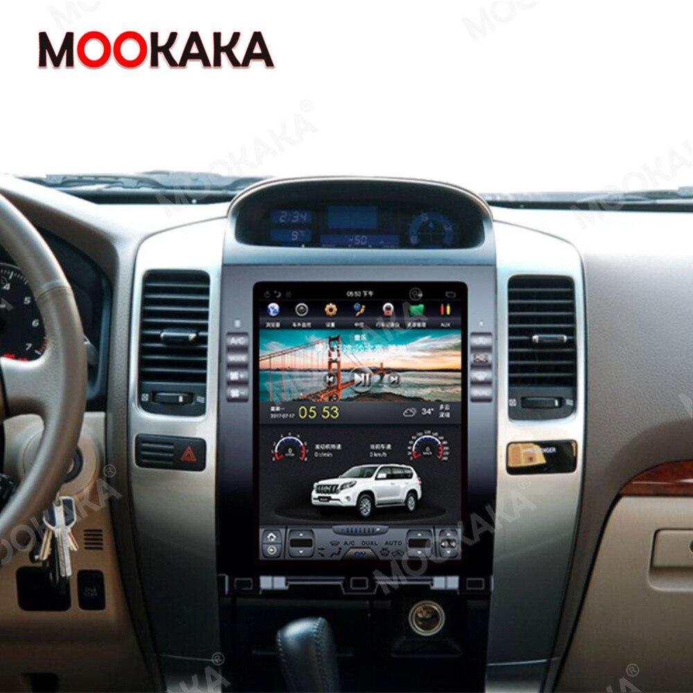 Для Prado 120 Lexus GX470 Радио android для Toyota Land Cruiser 2002 - 2009 Tesla стерео автомобильный мультимедийный плеер GPS PX6 головное устройство