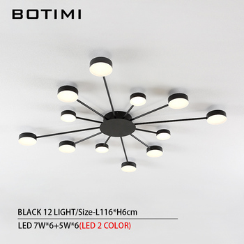 BOTIMI Novelty Metal Irregular Ceiling Lights For Foyer Black Ceiling Lamp Golden Surface Mounted Bedroom Lighting Fixture 8
