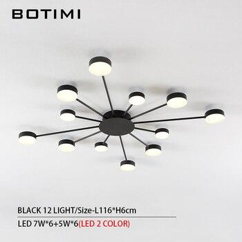 BOTIMI Novelty Metal Irregular Ceiling Lights For Foyer Black Ceiling Lamp Golden Surface Mounted Bedroom Lighting Fixture 8