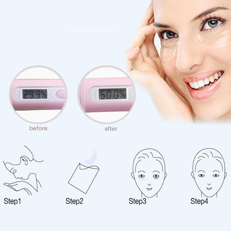 1 Uds. Mascarilla de colágeno dorada de cristal para ojos parches de edad máscaras de bolsa antiarrugas cuidado de la piel caliente TSLM2