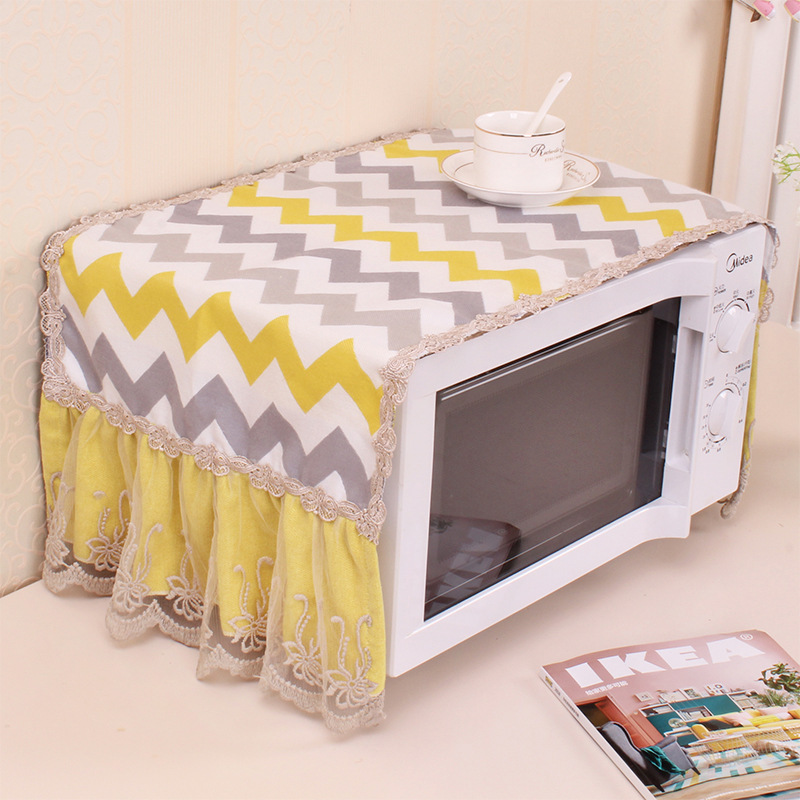 Beautiful Microwave Oven Cover Cloth Dustproof Cover Electric Oven Oil Proof Dustproof Universal Cover
