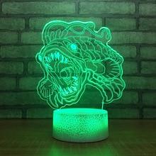 Fierce piranha7 цветная лампа 3d Визуальный светодиодный ночной Светильник s для детей сенсорный Usb Настольный светильник Lampara Lampe Детский Светильник для сна