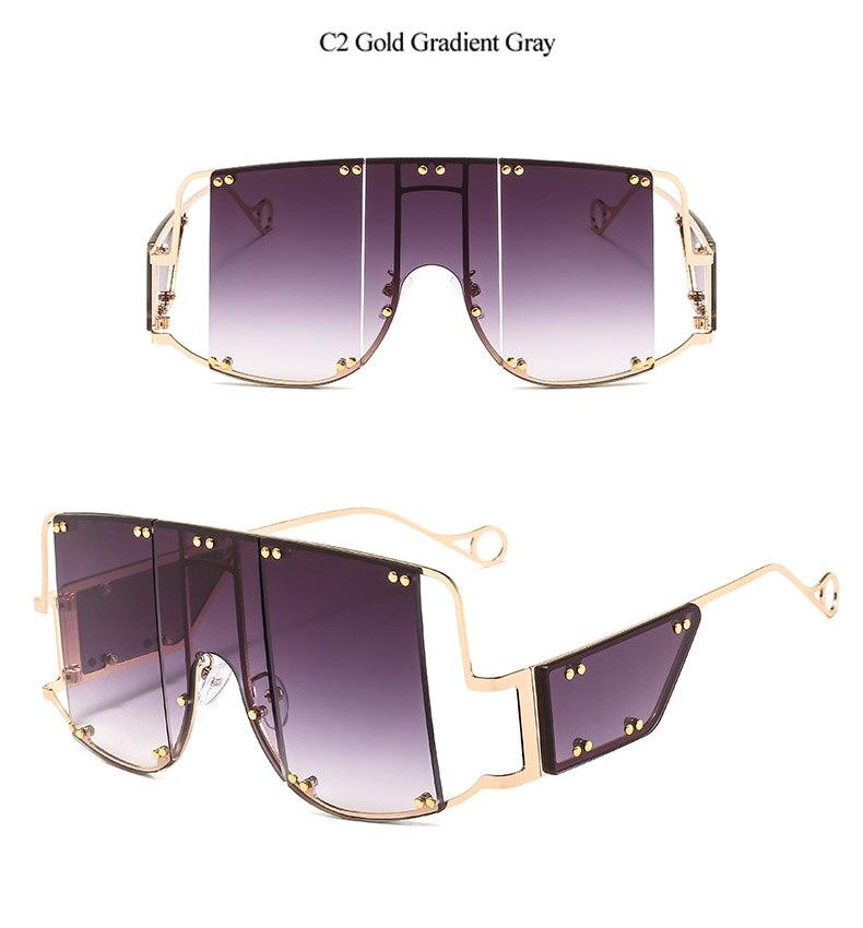 Vintage Surdimensionné Lunettes de soleil femmes hommes Big Frame UV400 Photochromique Accessoires