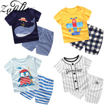 ZAFILLE kids Clothes Sets Summer Baby Boys Clothing Infant Cotton Girl Top+Pant Outfits
