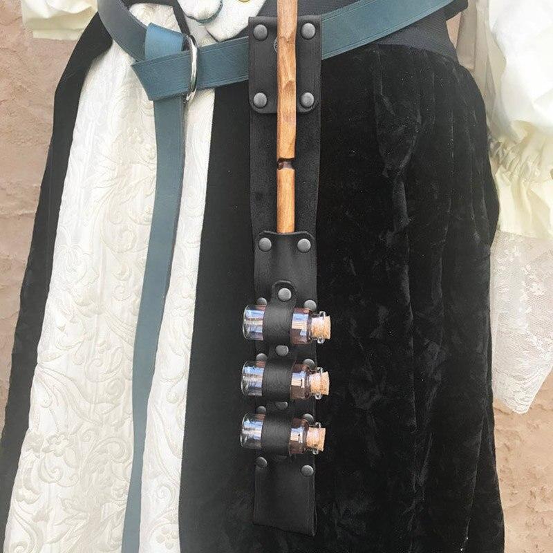 Vials Wand Holster Holder Steampunk Women Halloween Costume Potion Bottle Belt Renaissance Witch Mage Warlock LARP Healers Props