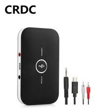 Bluetooth 5.0 Audio Transmitter Receiver Stereo Music 2 In 1 3.5mm AUX Jack RCA Wireless Adapter For Car Headphone Speaker TV PC