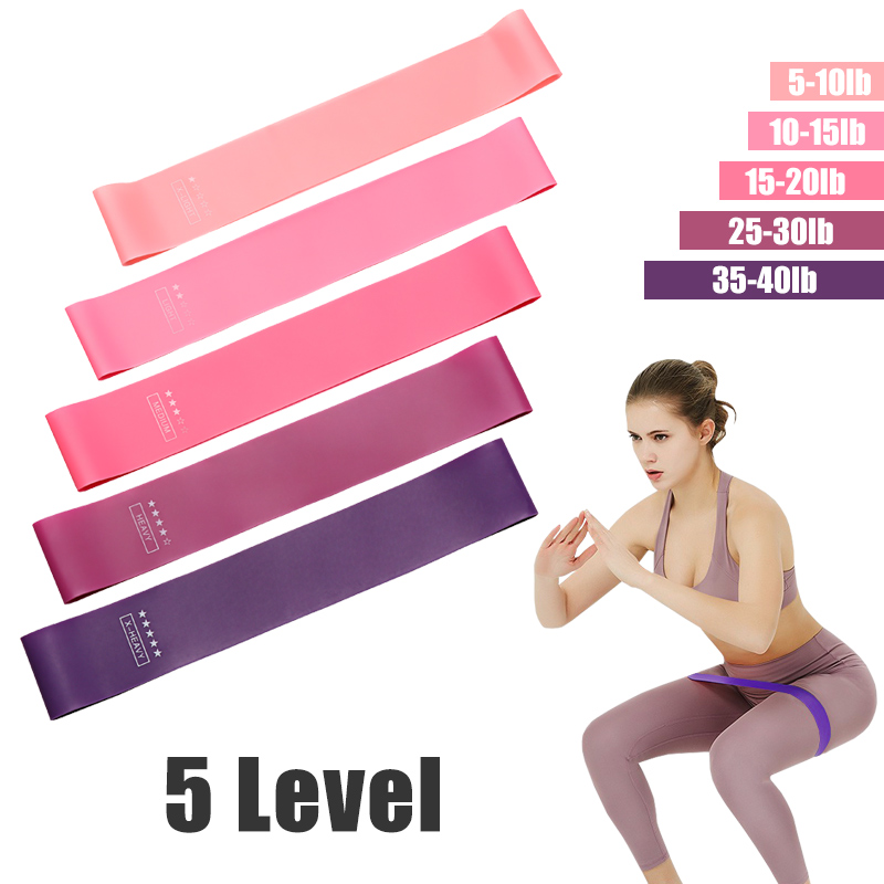 Yoga Resistance Rubber Bands Set Indoor Elastic Band For Fitness Comba Crossfit Equipment Training Fitness Gum For Sport 5 Level