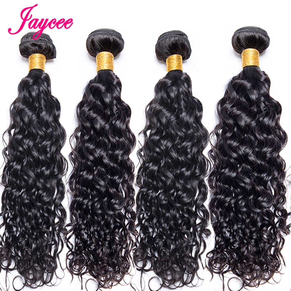 Jaycee Brazilian Water Wave 3 / 4 Bundle Deals 100% Human Hair Weave Bundle Remy Brazilian Hair Brazillian Hair Extensions