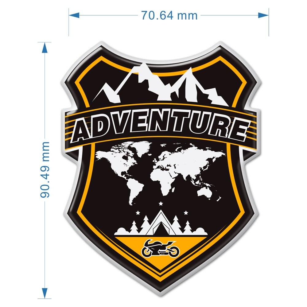 ADV Adventure Stickers Windshield Windscreen Luggage Aluminum Case For BMW Honda Yamaha Moto Guzzi Benelli Suzuki Motorcycle