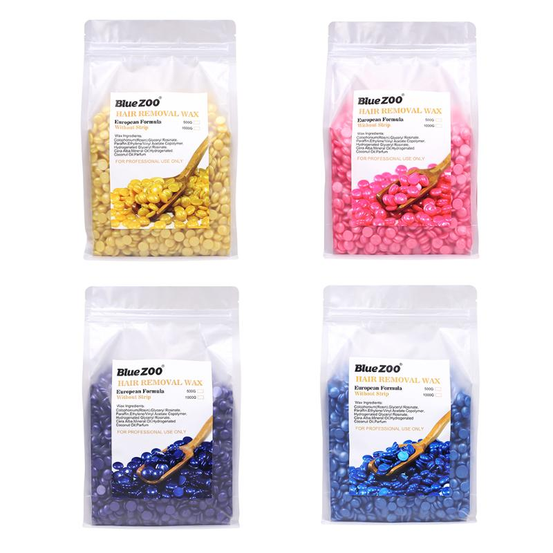 1000g Depilatory Wax Beans Hot Film Hard Waxing Bean Pellets No Strip Body Face Bikini Hair Removal Bean Tools