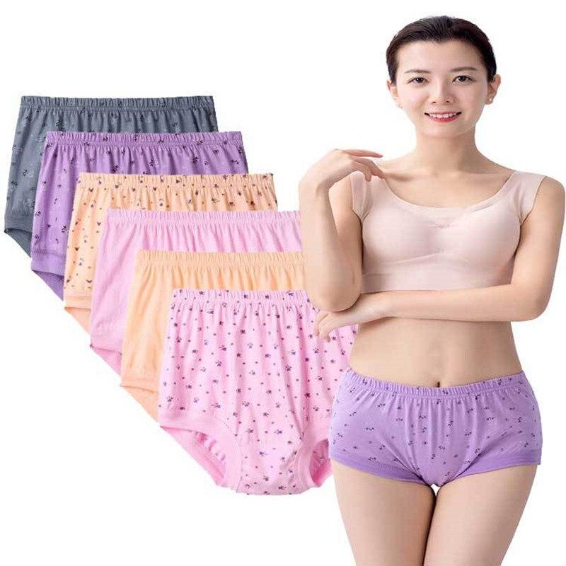 Хипстерские женские сексуальные трусики больших размеров, хлопковое нижнее белье для женщин среднего возраста, дышащие трусики, брифы