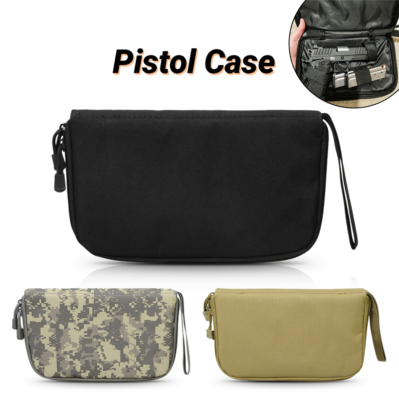 Tactical Concealed Pistol Carry Bag Portable Handgun Holster Military Gun Pouch Soft Protection Case Hunting Gun Accessories