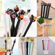 1pc Cat Pens Kawaii Neutral Gel Pen Cute Ink For School Supplies Office Writing Gifts Korean Stationery Promotional