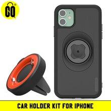 Para o jogo de instalação do telefone móvel da tomada de ar do carro do iphone, para o telefone no grampo do respiradouro de ar do carro montar o suporte do telefone móvel gps