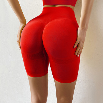 CHRLEISURE Sports Shorts Women Seamless Push Up Casual High Waist Booty Shorts Feminino Fitness Workout Slim Shorts 1
