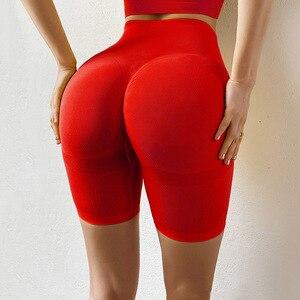 CHRLEISURE Sports Shorts Women Seamless Push Up Casual High Waist Booty Shorts Feminino Fitness Workout Slim Shorts