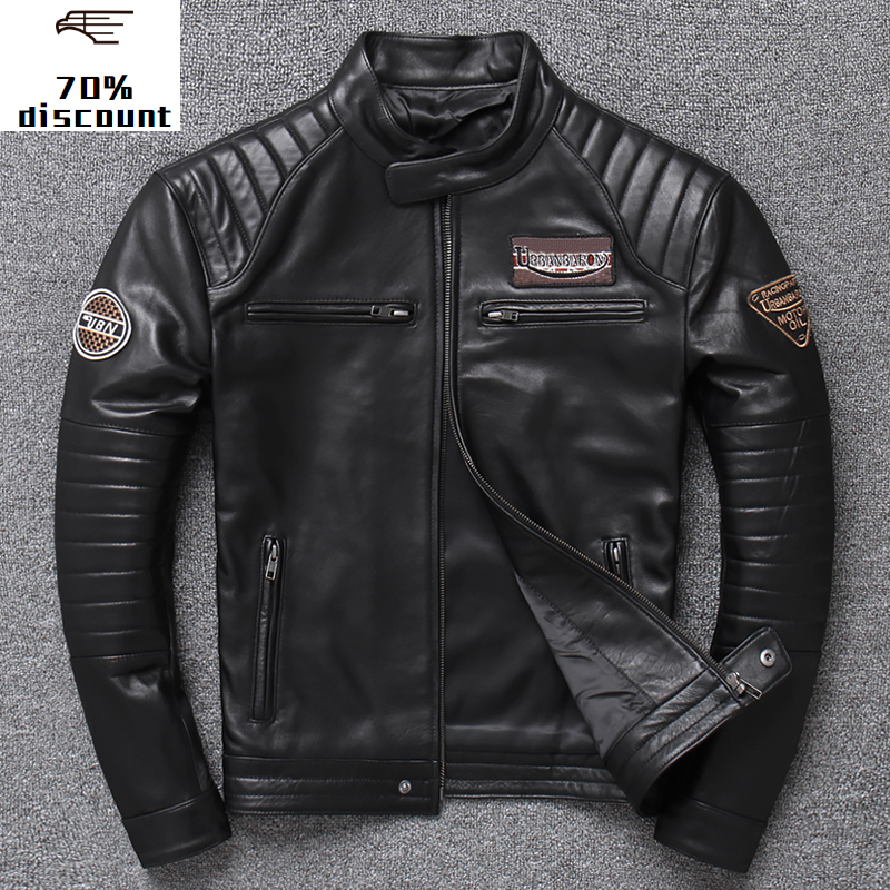 2020 New Leather Jacket <font><b>Men</b></font> <font><b>Men's</b></font> Genuine <font><b>winter</b></font> <font><b>mens</b></font> sheepskin <font><b>fur</b></font> coat leather <font><b>shirt</b></font> sheepskin jacket image