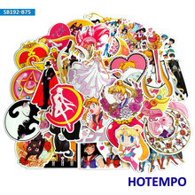 75pcs Anime Sailor Moon Sticker Girl Children Kids Gift DIY Letter Diary Scrapbooking Stationery Pegatinas Decal Stickers