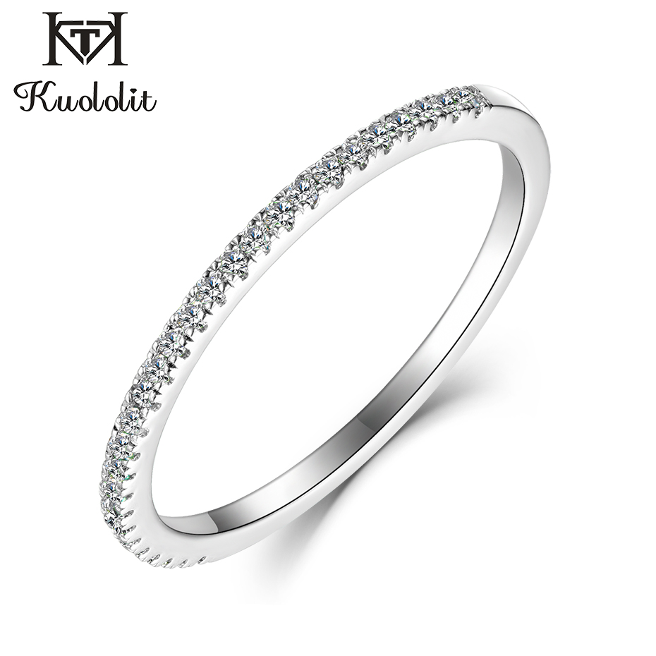 Kuololit 10K Solid Gold 100% Moissanite Rings for Women 100% Hand Setting Lab Grown Diamonds Rings Engagement bride Fine Jewelry